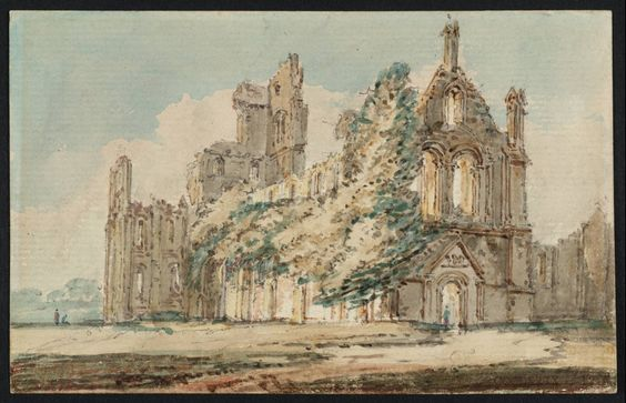 Thomas Girtin 'Kirkstall Abbey from the North West', c.1797