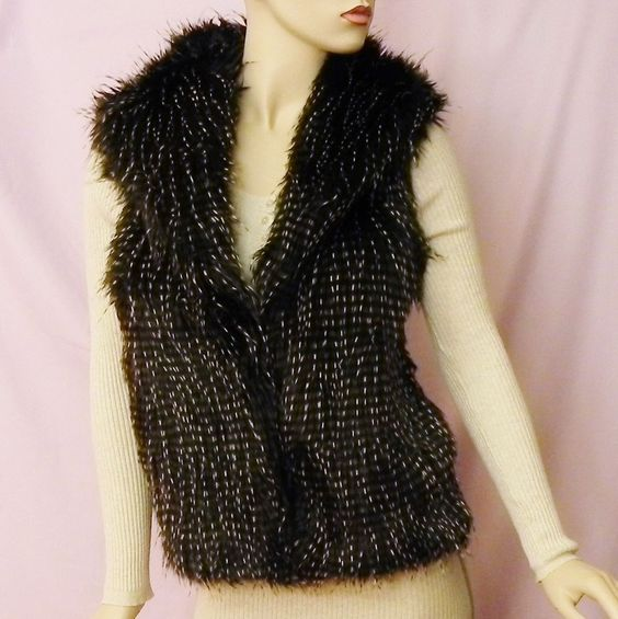 Victoria's Secret Moda/international Sweater Vest Faux Fur Medium  #VictoriasSecret
