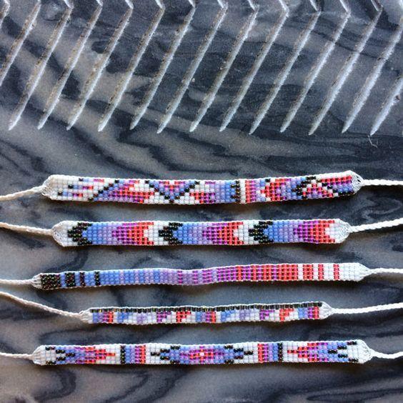 Seed Bead Friendship Bracelets by MichikoJewelry on Etsy