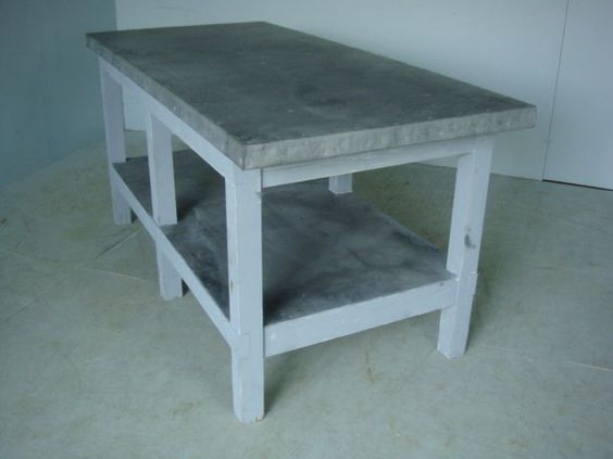Me Gardens Zinc Top Kitchen Island Say No More Islands Available At Ecustomfinishes Table Inspiration Pinterest Kitchens