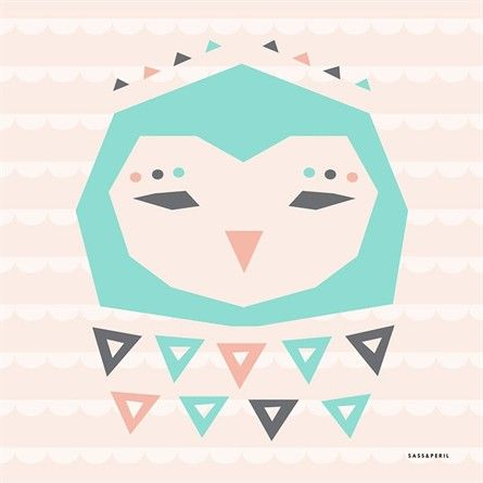 @rosenberryrooms is offering $20 OFF your purchase! Share the news and save!  Geo Animals Owl Canvas Wall Art #rosenberryrooms