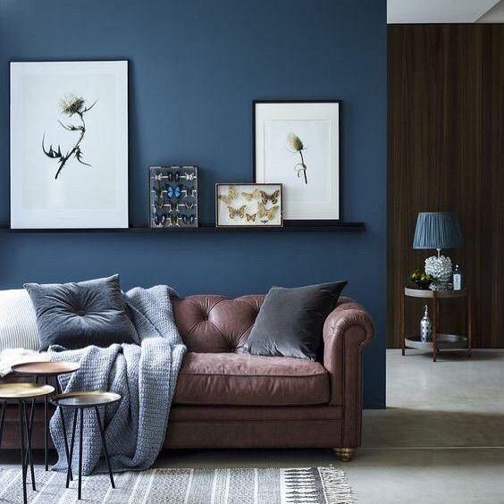 Azul Petroleo E Lindo Demais Quem Ai Tb Adora Organizesemfrescuras Decor Blue Brown And Blue Living Room Brown Couch Living Room Living Room Color Schemes