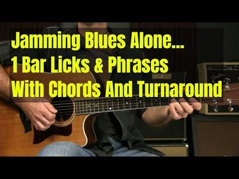 Acoustic Blues Guitar Lesson 1 Bar Licks And Phrases With Chords For Beginners Or Intermediates Youtube G Blues Guitar Lessons Guitar Lessons Blues Guitar