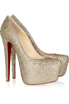 Christian Louboutin  Daffodile 160 crystal-embellished suede pumps