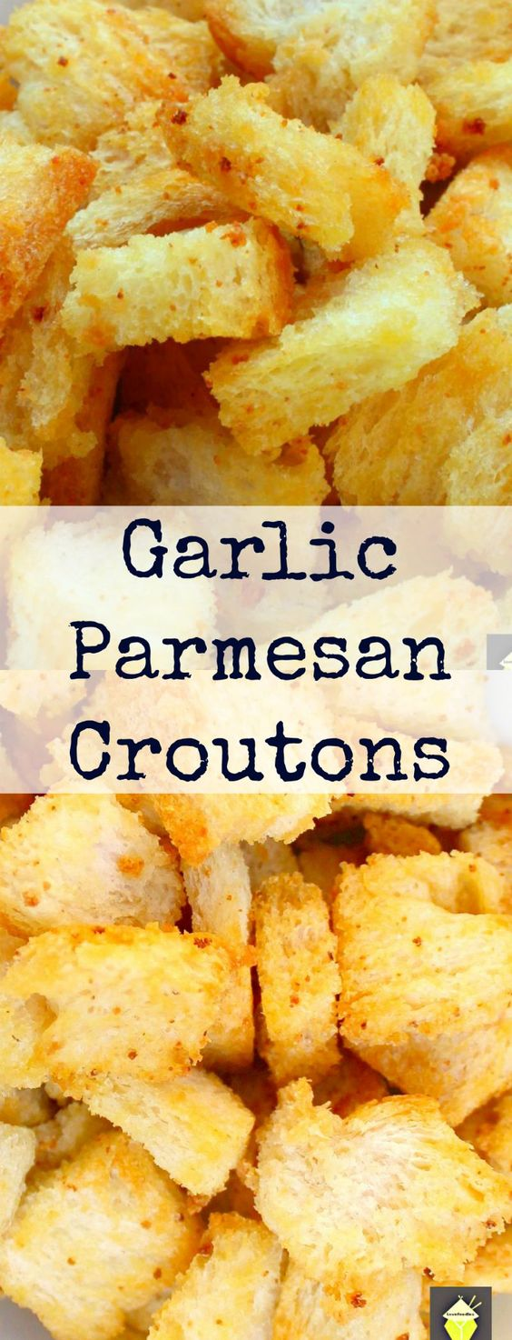 Garlic Parmesan Croutons, delicious crispy croutons, perfect for ...
