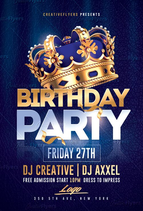 Birthday Party Flyer Psd Templates Creative Flyers Birthday