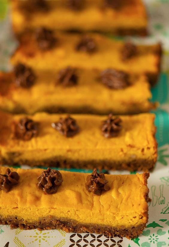 Barres de cheesecake au potimarron