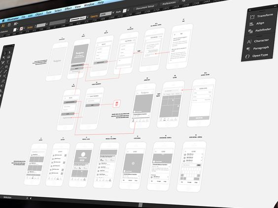 Work in Progress Wireframe by Thomas Budiman for Whaledesigned