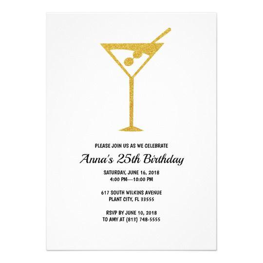 25th Birthday Invitation Zazzle Com Birthday Invitations 21st Birthday Invitations 25th Birthday