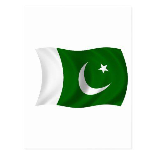 Flag Of Pakistan Postcard Zazzle Com Pakistan Flag Pakistan