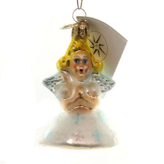 Little Miss Angel Glass Ornament
