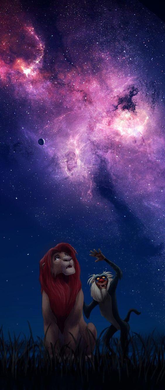 星空とシンバとラフィキ