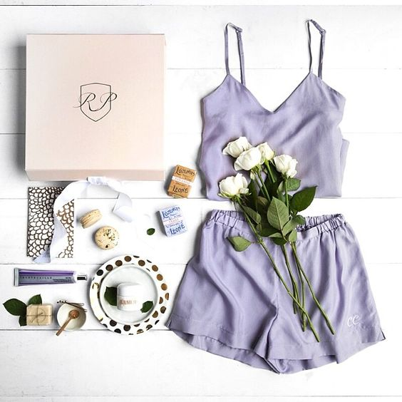 Flat Lay Of Panties Mixed With Pretty Everyday Objects...a