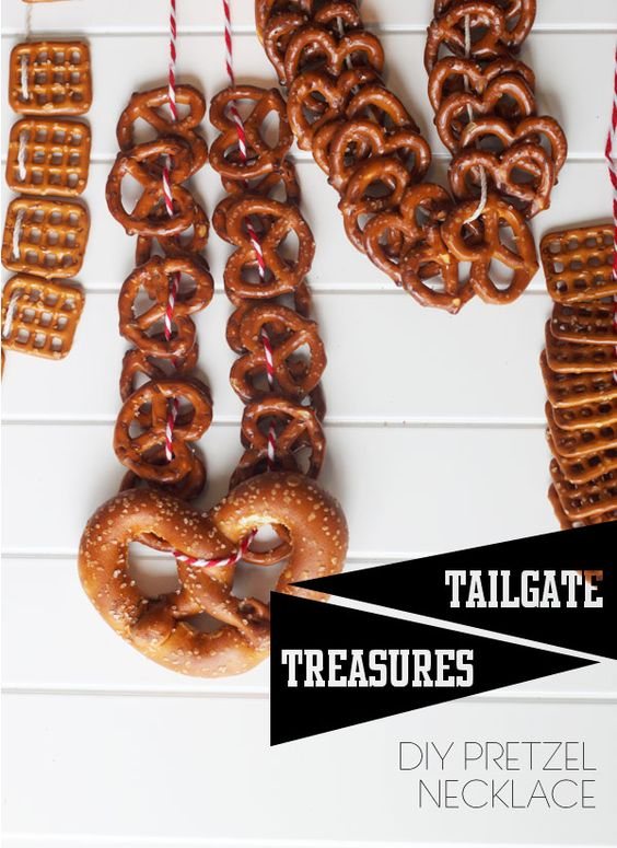 Pretzel necklace: Saw this at a beer festival and thought it was a fantastic idea.