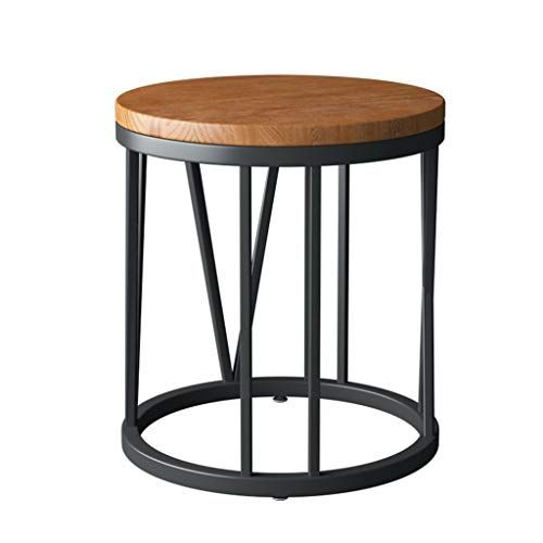 Home Warehouse Retro Coffee Table Creative Solid Wood Sofa Side