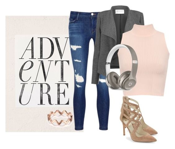 """""""Downtown"""" by heilymembreno on Polyvore featuring Urban Outfitters, J Brand, Amanda Wakeley, WearAll, Beats by Dr. Dre and BCBGeneration"""
