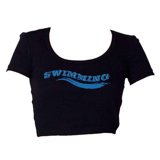 Swimming Women Crop T-Shirt ♀