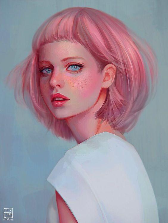 Pink Haired Lady by serafleur.deviantart.com on @DeviantArt: