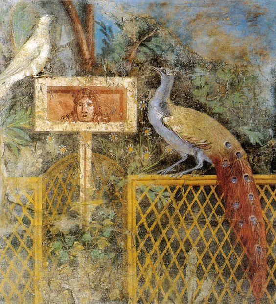 Affresco di giardino da pompei, museo archeologico nazionale, napoli - Pittura romana di giardino - Wikipedia:
