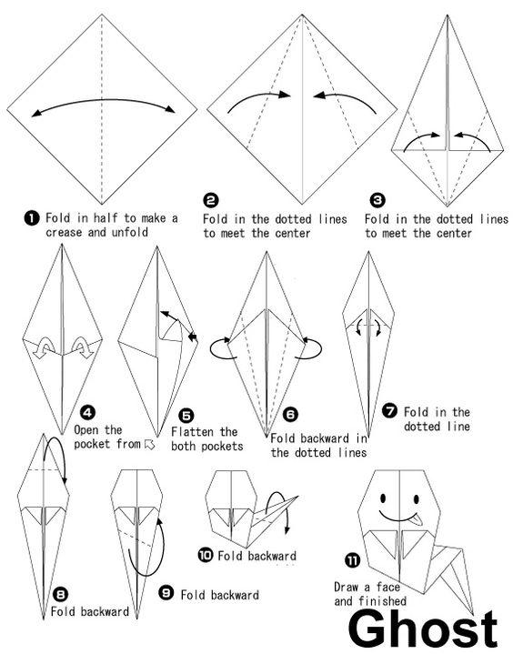 origami fant u00f4me pour  halloween