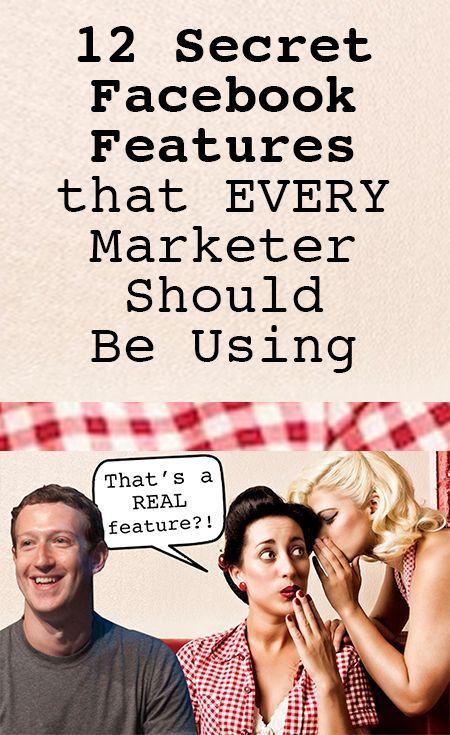 12 Secret Facebook Features that EVERY Marketer Should Be Using (scheduled via http://www.tailwindapp.com?utm_source=pinterest&utm_medium=twpin&utm_content=post13932716&utm_campaign=scheduler_attribution)
