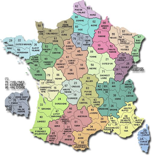 The departments of France