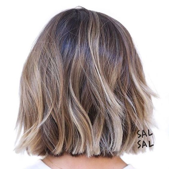 Bob shaken up with blonde streaks - use a few colorcones.com to build up the tones! X