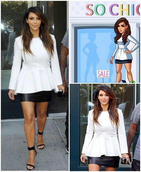 Viva la vida Kardashian: Kim Tiene Un Juego Bien Fashion