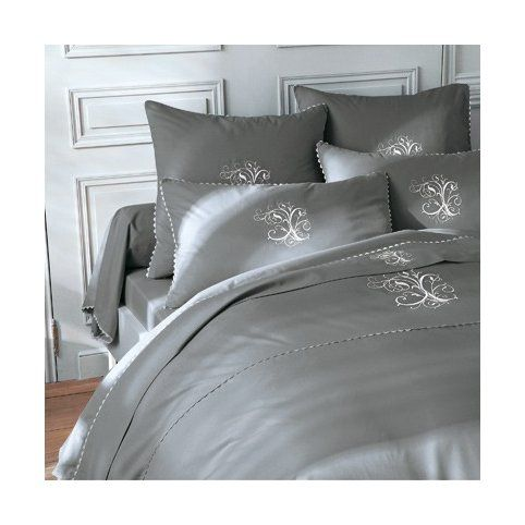 Housse De Couette Coton Brodee Monogrammes Manoir Bouchara Collection 3suisses Bed Home Furniture