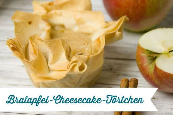Hallo Herbst | Bratapfel-Cheesecake-Törtchen | Rezept
