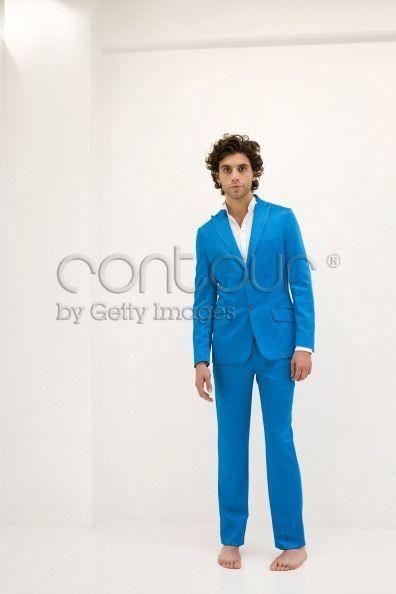 Bare foot Mika! :))) blue suit portrait shoot London 26-06-2007