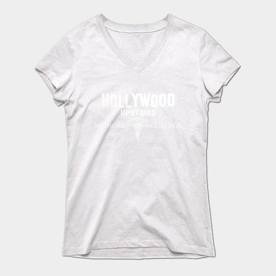 Hollywood Upstairs Medical College Womens V-Neck T-Shirt