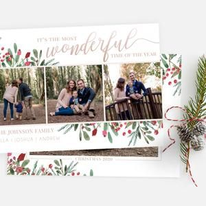 Photo Christmas Card Template For Photographers And Personal Use 5x7 Holidays Photo Card Template 064 Photoshop Template Christmas Photo Card Template Christmas Card Template Holiday Photo Cards Template