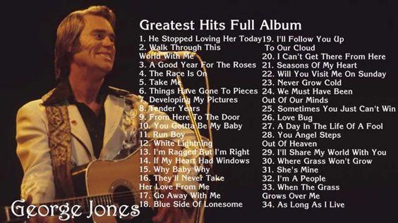 GEORGE JONES - Greates Hits Full Album | Best songs of George Jones