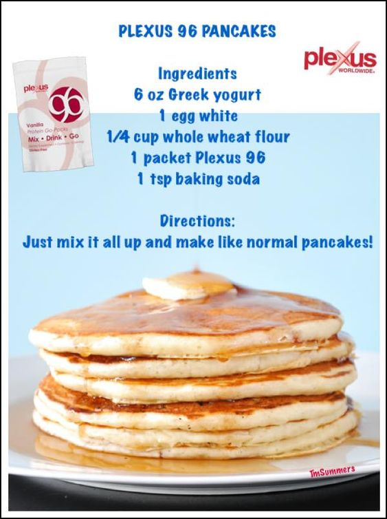 Great way to get your protein in and make a meal out of your Plexus p96.