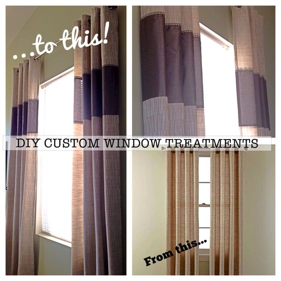 Fabric Panels To Cover Storage Area : Diy custom window treatments customized my store bought