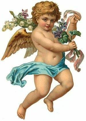 free angel postcard image | Un par de preguntas difíciles