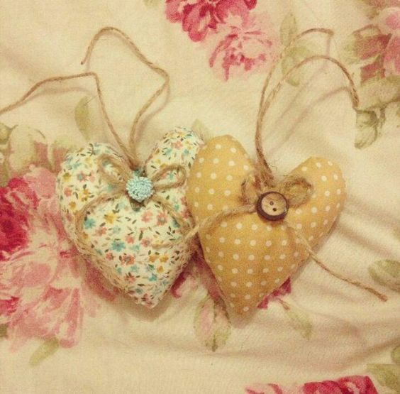 Home made hearts by The Sewing Garden x