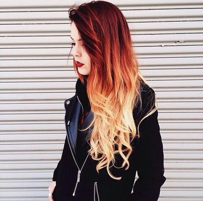 Red ombre hair: