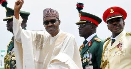 Why does President Muhammadu Buhari like the clenched raised fist salute?  It is like his political symbol which he used during his presi...