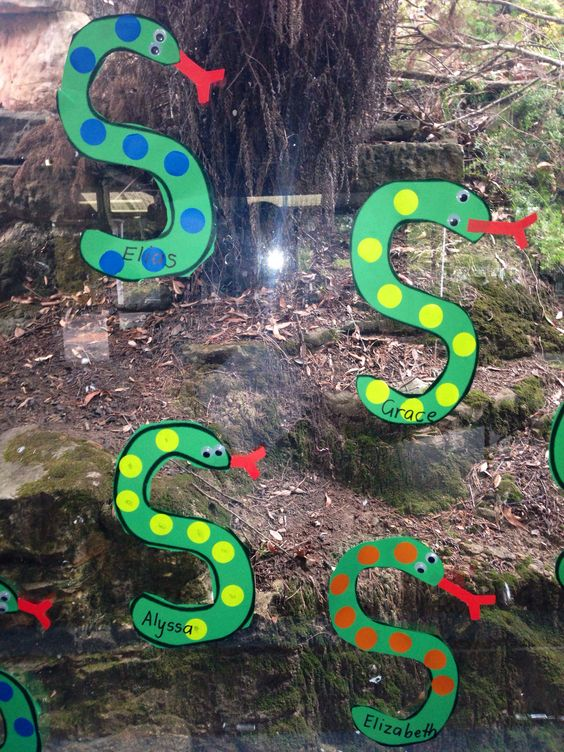 Letter of the week S for spotty snakes