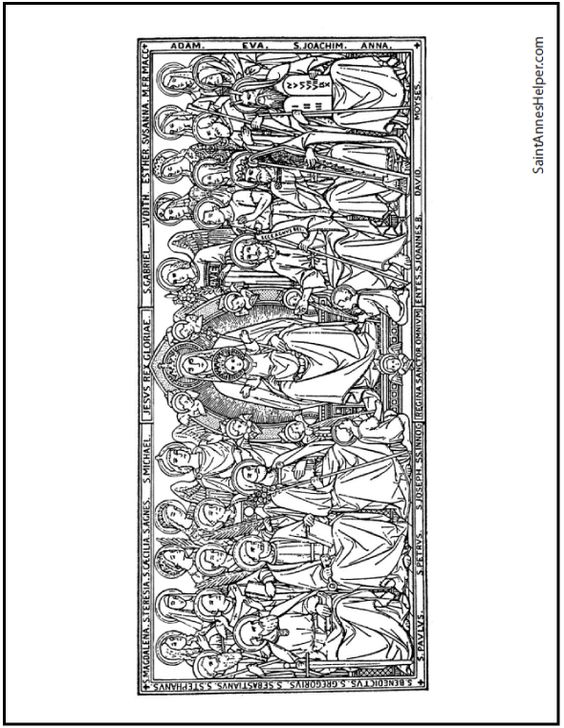roman catholic coloring pages - photo#17