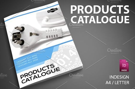Product Catalog 6 by SmartyBundles on @creativemarket Brochure - free brochure design templates word