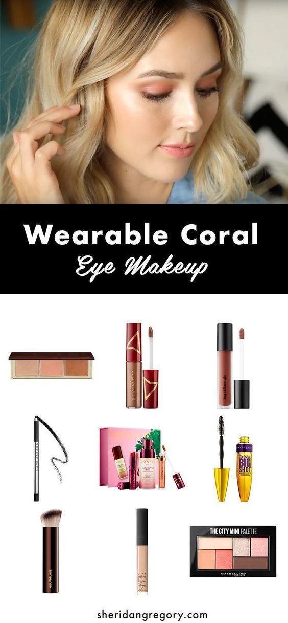 coral makeup tutorial for women