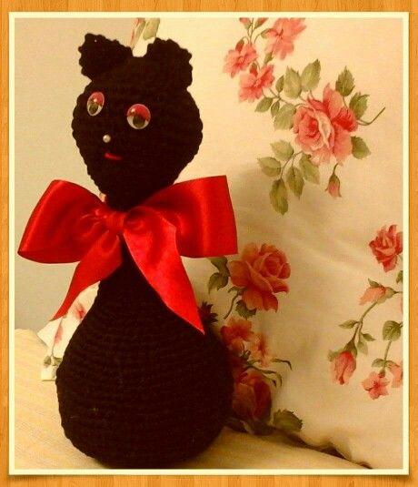 Gatinha em crochet