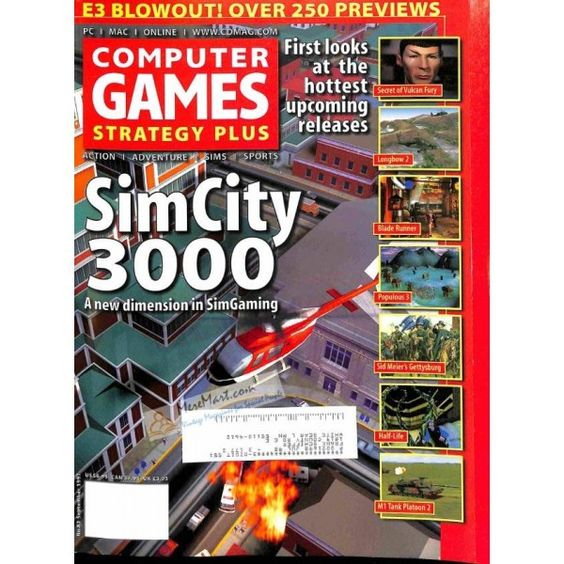 Cover Print of Computer Games Magazine, September 1997 | $6.60