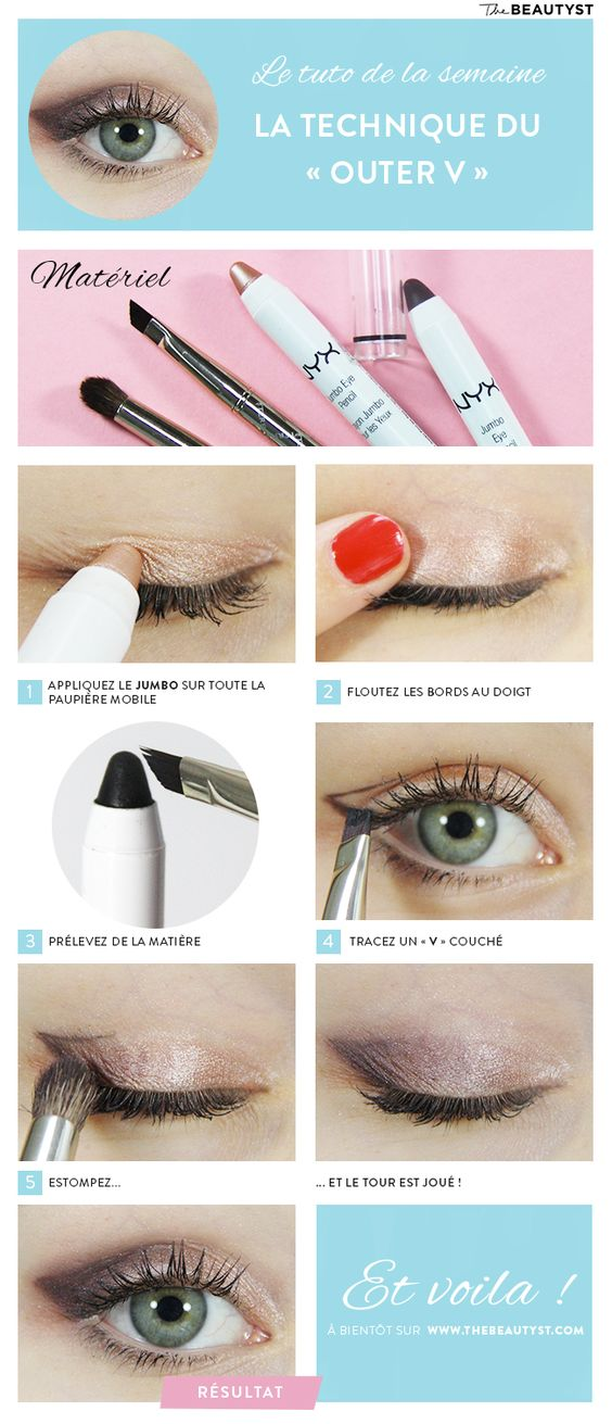 #Tuto : La technique #maquillage du « Outer V » avec les Jumbos #NYX