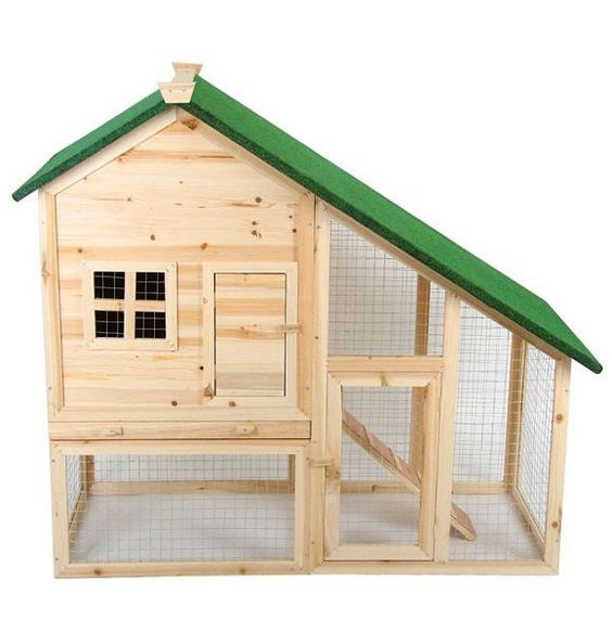 Hasenstall mit zwei Etagen, abnehmbares Dach | Two-storey Rabbit hutch, roof removable | @Jago24