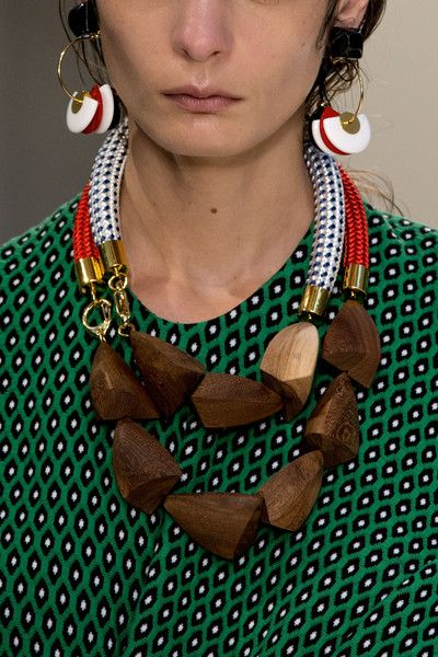 I love the giant stones. Both of these necklaces must be worn together to make the best impact. The bigger the better.