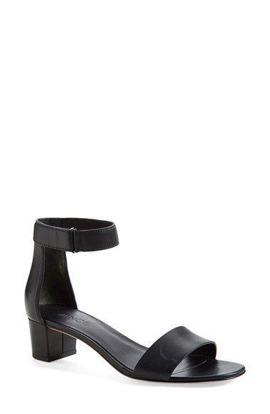 Women S Vince Rita Leather Ankle Strap Sandal 2 Quot Heel